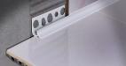 Kútový profil 8mm biely PVC 2,5m (cena za ks)